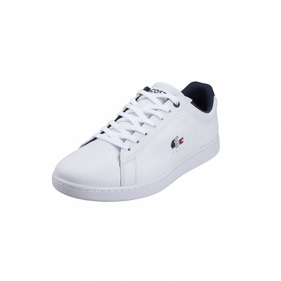 Ανδρικά Δερμάτινα Sneakers Lacoste Carnaby Evo 119 7 Sma Wht Nvy Red Leather 7 37SMA0013407