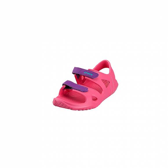 5d3c7f9823fb ... Παιδικά Σανδάλια Crocs 204988-60O Swiftwater RIVER SANDAL KIDS PARADISE  PINK AMETHYST RELAXED FIT