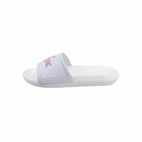 Γυναικείες Παντόφλες Lacoste Croco Slide 119 3 CFA White Light Pink synthetic 7-37CFA00051Y9