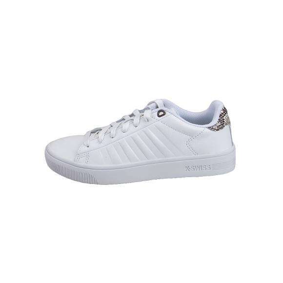 K Swiss 95453 188 M Court Frasco White snake