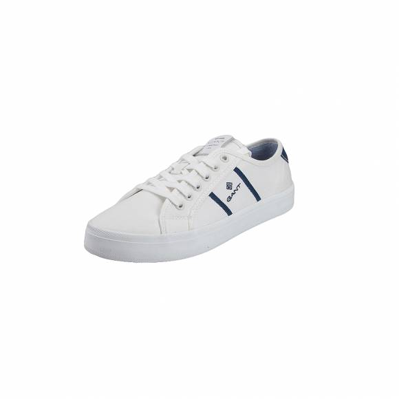 4ae52a7f656 ... Γυναικεία Sneakers Gant Zoee 18538445 canvas leather G315 White ivy blue