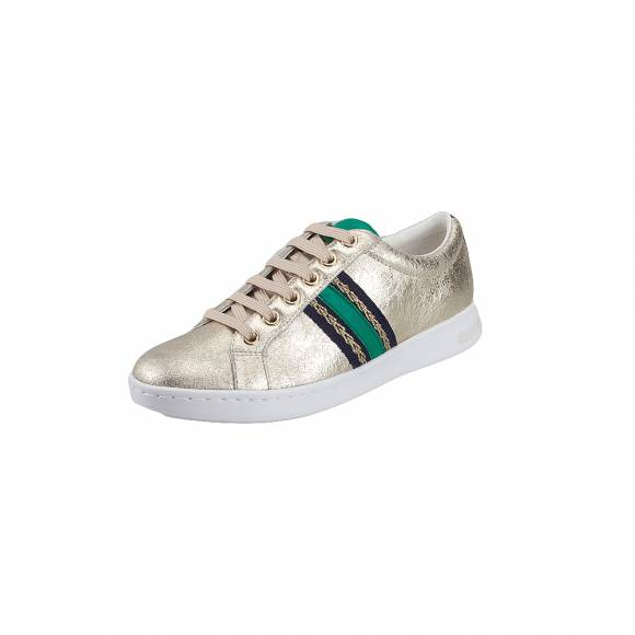 585f9499530 Γυναικεία Δερμάτινα Sneakers Geox D921BA OVIBC C2L3Q Jaysen met suede  synthetic leather Lt Gold sneakers