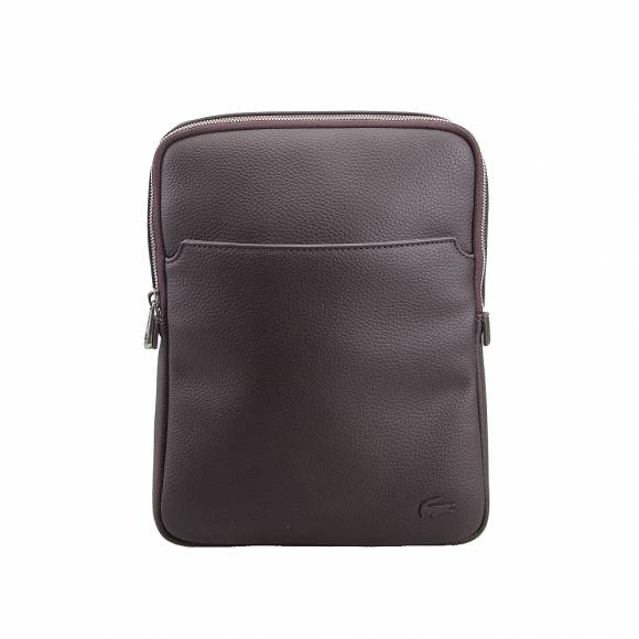 4695195af2 ... Ανδρικό Τσαντάκι Lacoste NH1741GL 047 Chocolate Brown M Flat crossover  bag