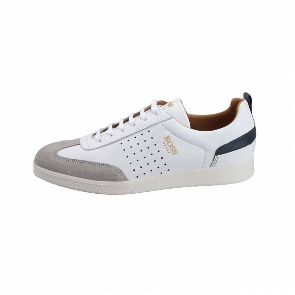 Ανδρικά Δερμάτινα Sneakers Boss shoes L AREZZO White Burn