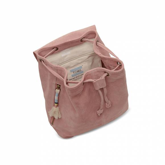 TOMS 10010073 DUSTY ROSE SUEDE EMBROID BACKPACK