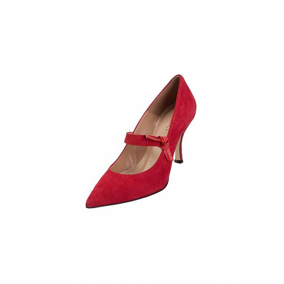 Bruni 517 Red suede