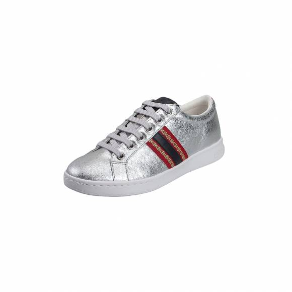 65c56c25bd95 ... Γυναικεία Δερμάτινα Sneakers Geox D921BA 0VIBC C0668 Jaysen met Suede  Synth Leather Silver Navy Sneakers