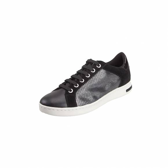 66caba68e3a3 ... Γυναικεία Sneakers Geox D821BA OLY22 C1223 Jaysen Met Text Pearl Synth  Gun Black sneakers
