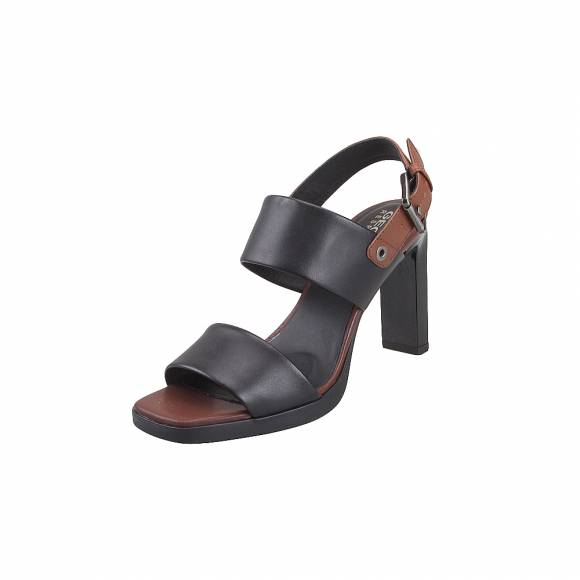 Γυναικεία Δερμάτινα Πέδιλα Geox D92CDA 00043 C0111 Jenieve smo leather Black Brown sandals