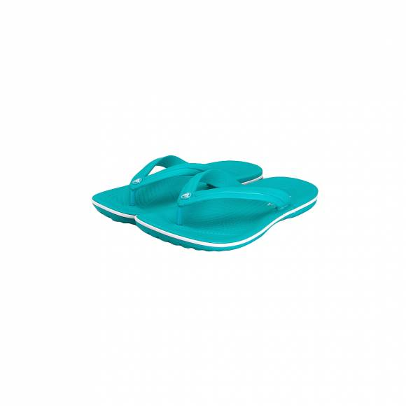 CROCS 11033 380 CROCBAND FLIP TROPICAL TEAL WHITE RELAXED FIT