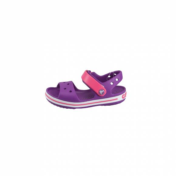 CROCS 12856-54O CROCBAND SANDAL KIDS AMETHYST PARADISE PINK RELAXED FIT