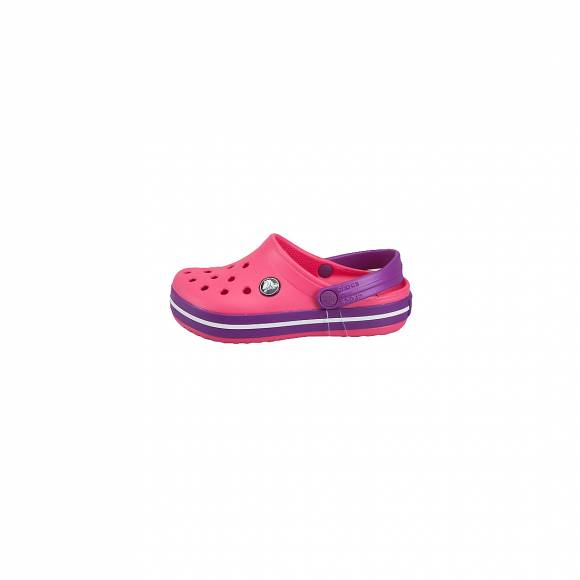 CROCS 204537-60O CROCBAND CLOG KIDS PARADISE PINK AMETHYST RELAXED FIT