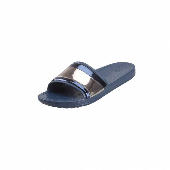 Γυναικείες Σαγιονάρες Crocs Sloane 205358 4JD Metalblock Sld W Multi Navy Navy Standard Fit
