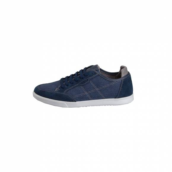 GEOX U722CA 0NB22 C4000 WALEE WASH CANVAS SUEDE BLUE
