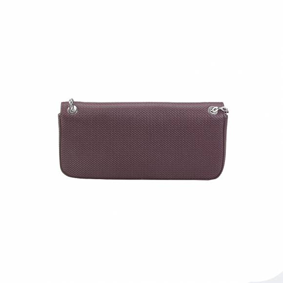 Lacoste NF2574XC 972 Winetasting Crossover Bag Split Cow Leather