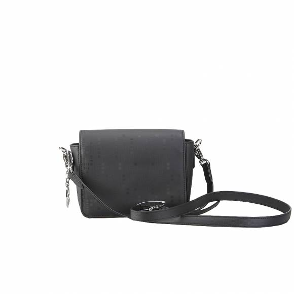 Lacoste NF2590DC 000 Black XS Square Crossover Bag Pvc