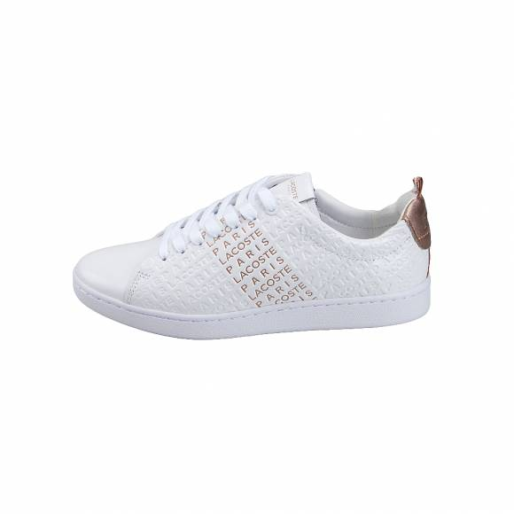 d91ee2cf56e Γυναικεία Δερμάτινα Sneakers Lacoste Carnaby EVO 119 11 US SFA Wht Pink  leather 7-37SFA0012B53 ...
