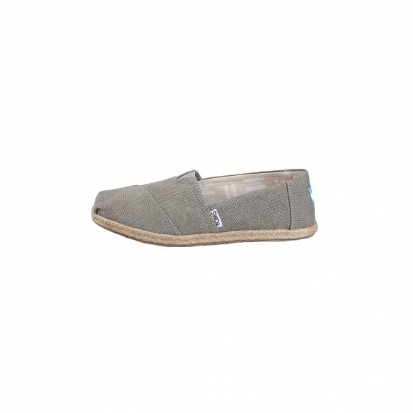 TOMS CLASSISC DRIZZLE GREY WASHED CANVAS ROPE SOLE 10009754