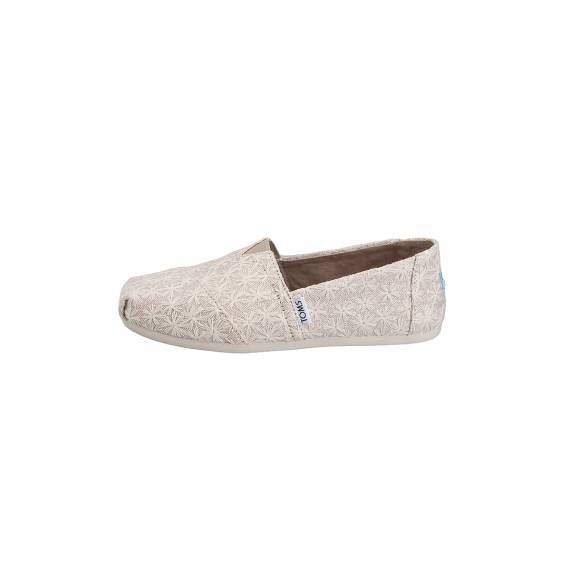 TOMS CLASSIC NATURAL DAISY METALLIC 10011656