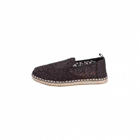 TOMS DECONSTRUCTED ALPARGADA ROPE BLACK LACE LEAVES 10011722