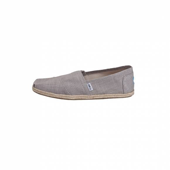 TOMS CLASSIC GREY LINEN ROPE SOLE 10008381