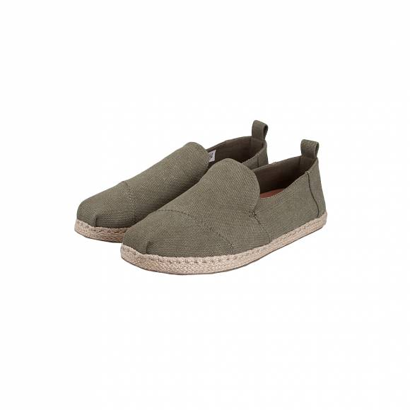 TOMS DECONSTRUCTED ALPARGADA OLIVE WASHED CANVAS 10011624