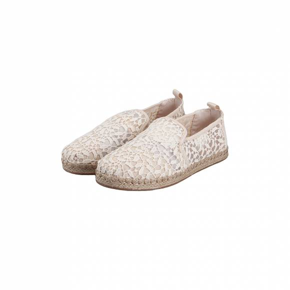 TOMS DECONSTRUCTED ALPARGADA ROPE NATURAL  LACE LEAVES 10011728