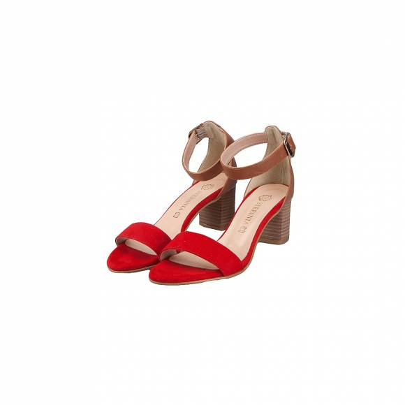 STEFANIA SHOES 444 RED TAN
