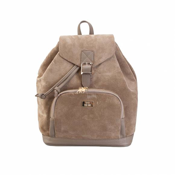 Four Knot 1030018 Taupe suede Backpack
