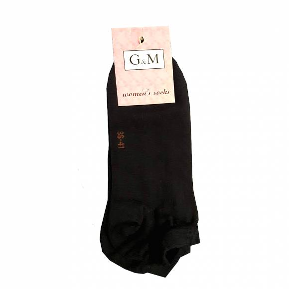 G & M WOMENS SOCKS 464 BLACK