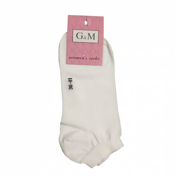 G & M SOCKS 464 WHITE