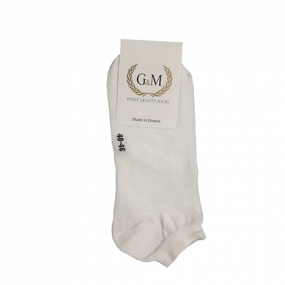 G & M SOCKS 461 WHITE