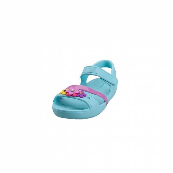 Παιδικά Σανδάλια Crocs Lina charm 205530 4O9 Sandal k ice Blue Relaxed Fit