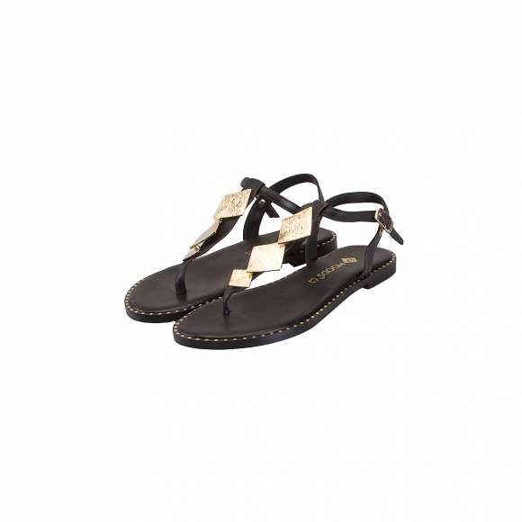 MOODS SHOES 16126 BLACK LEATHER