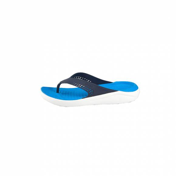 CROCS 205182-462 LITERIDE FLIP NAVY WHITE RELAXED FIT
