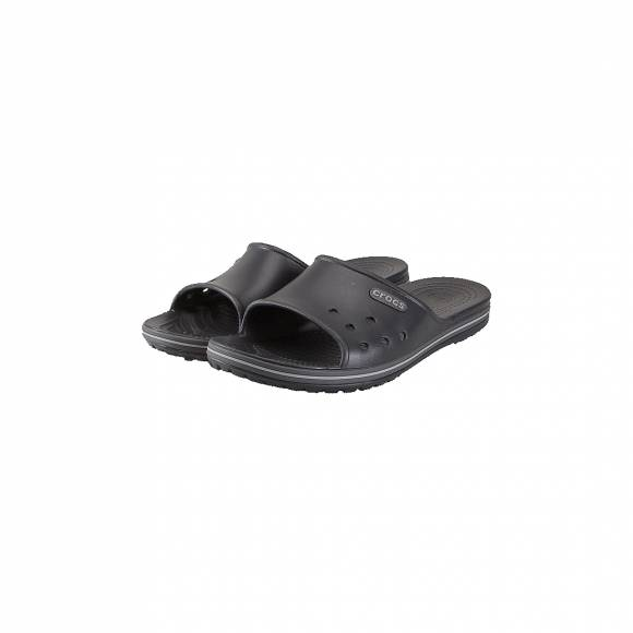 CROCS 204108-02S CROCBAND II SLIDE BLACK GRAPHITE RELAXED FIT