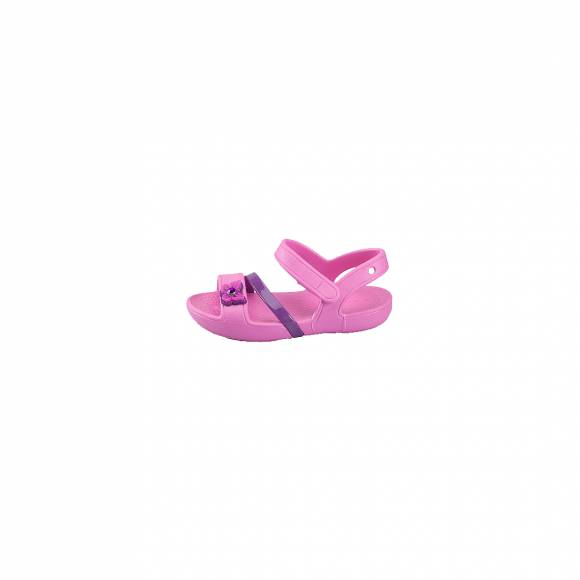 CROCS 205043-6U9 CROCS LINA SANDAL KIDS PARTY PINK RELAXED FIT