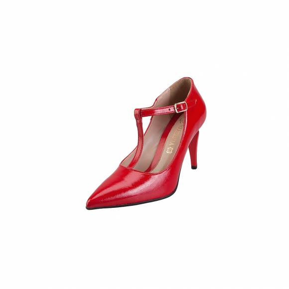 Stefania Shoes 718 Red Patent
