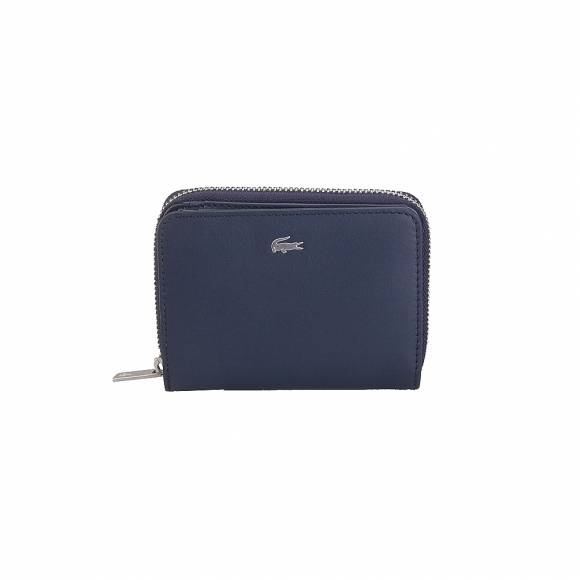 Lacoste NH2636FG S Zip Wallet Cow Leather 021 Peacoat
