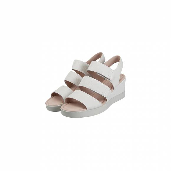 ECCO SHAPE WEDGE PLATEAU SANDAL 272613 01007 WHITE