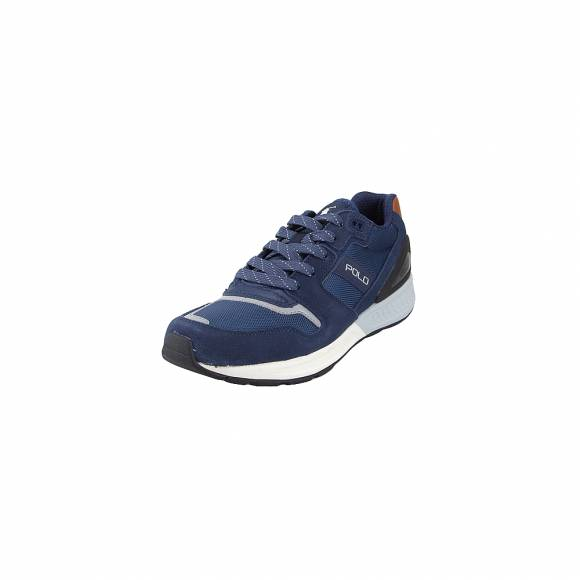 Ανδρικά Δερμάτινα Sneakers Polo Ralph Lauren Train100 sk ath Indigon Navy 80969838005