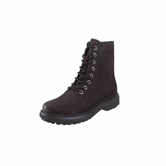 Geox D847AH 000LT C9999 Asheely nbk goat leather Black ankle boots