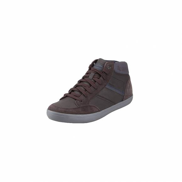 Geox U84R3E 0ME22 C6MF4 Box waxed gbk suede Coffee sneakers