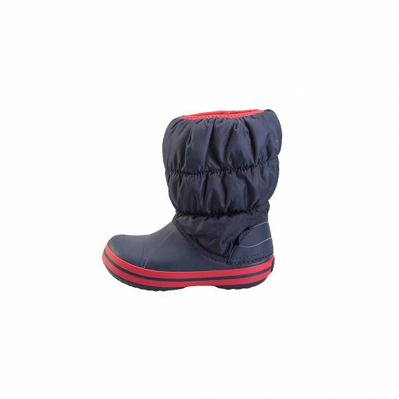Crocs winter puff boots kids Navy Red relaxed fit 14613 485