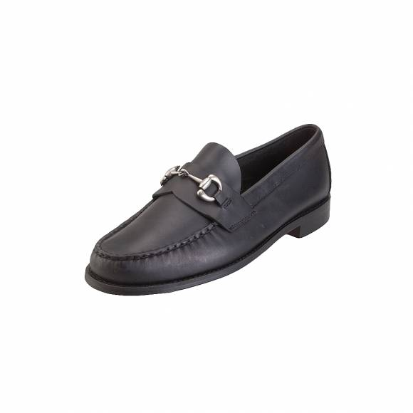 Ανδρικά Μοκασίνια Sebago Heritage Bit B767201 Black Leather