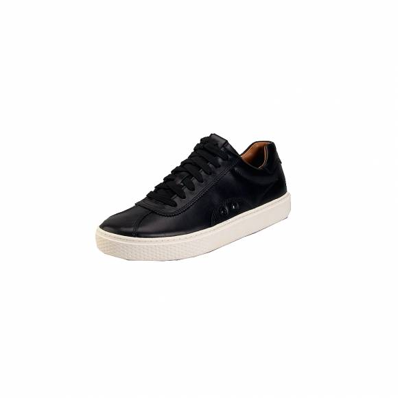 Ανδρικά Δερμάτινα Sneakers Polo Ralh Lauren 809710574002 Court100 Lux ath Black
