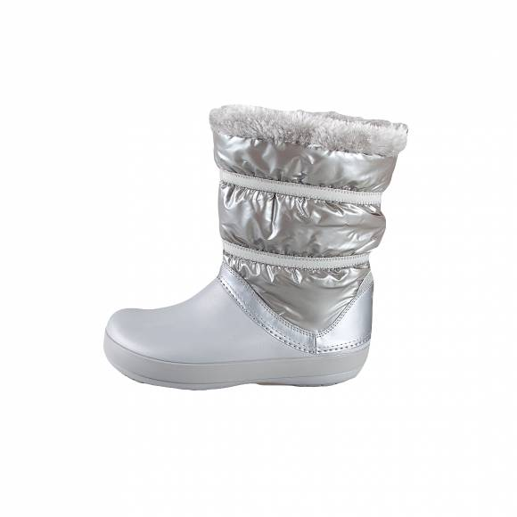 Crocs cb lodgepoint metallic boot g silver metallic relaxed fit 20529 0P1