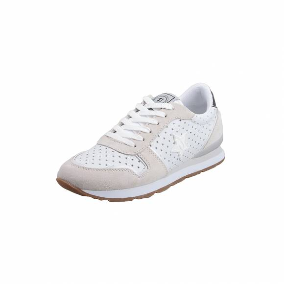 Γυναικεία Sneakers Trussardi Jeans Running Suede/ Pu with Holes Laminated Pu/Nylon Rubber Logo 79A00322 9Y099999 W650 White/ Black