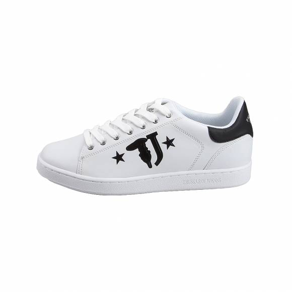 Ανδρικά Sneakers Trussardi Jeans Sneakers Synthetic Calf Leather Printed  77A00173 9Y09999 K299 Logo with Stars  Black