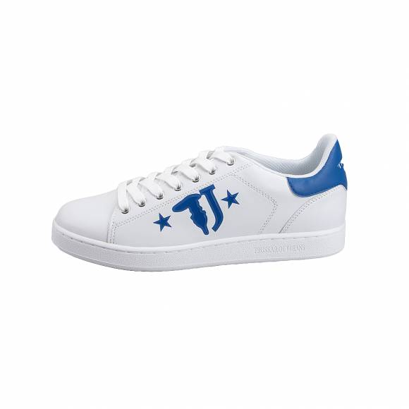 Ανδρικά Sneakers Trussardi Jeans Sneakers Synthetic Calf Leather Printed  77A00173 9YO99999 U280 Logo with Stars Blue